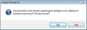 Komunikat LocalSystem
