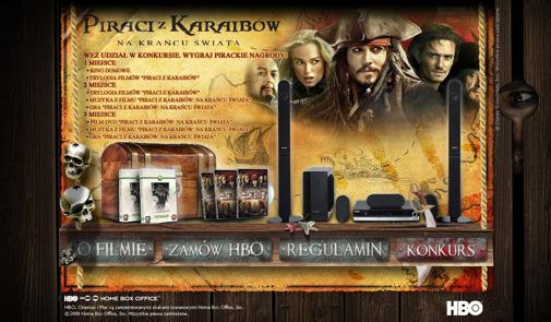 Gra internetowa - Piraci z Karaibów HBO