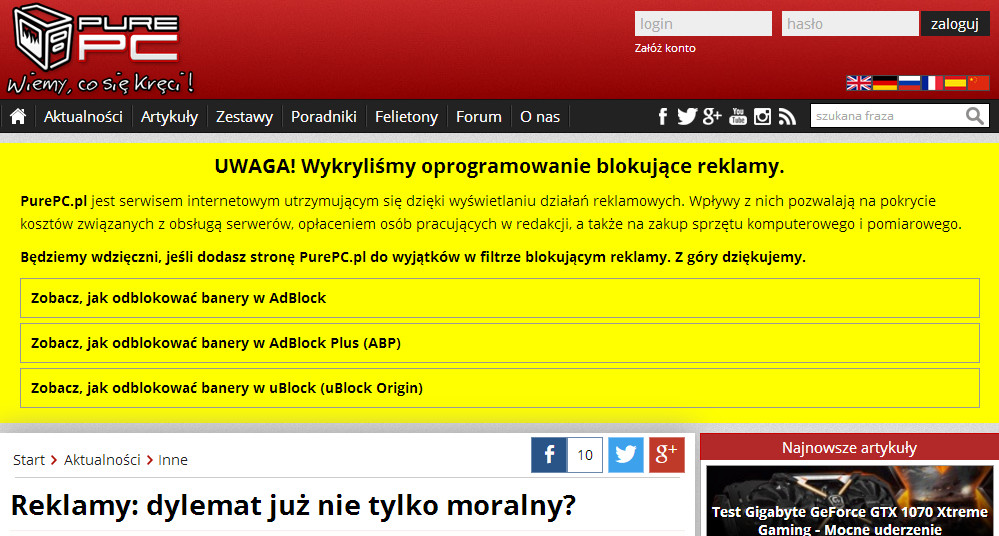 komunikat - pure.pl